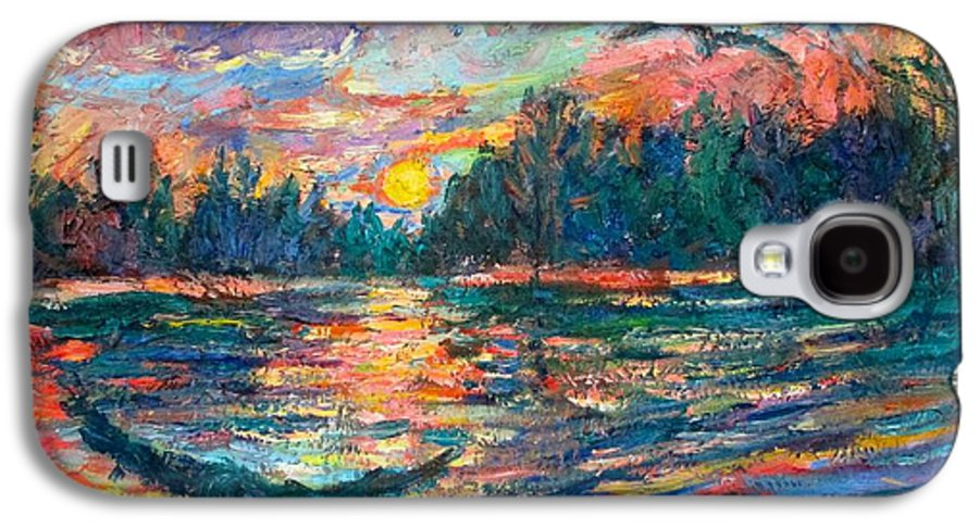 Landscape Galaxy S4 Case featuring the painting Evening Flight by Kendall Kessler