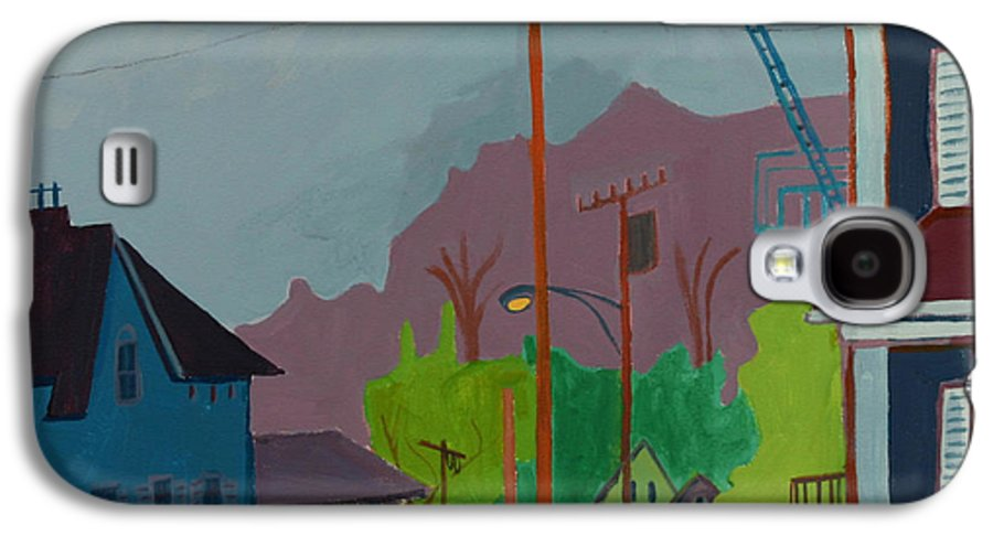Town Galaxy S4 Case featuring the painting Evening In Town by Debra Bretton Robinson