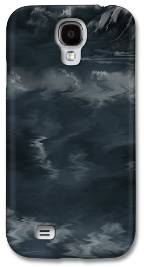 Seascape Galaxy S4 Case featuring the painting Evening Lights And Rocks by Anne Norskog