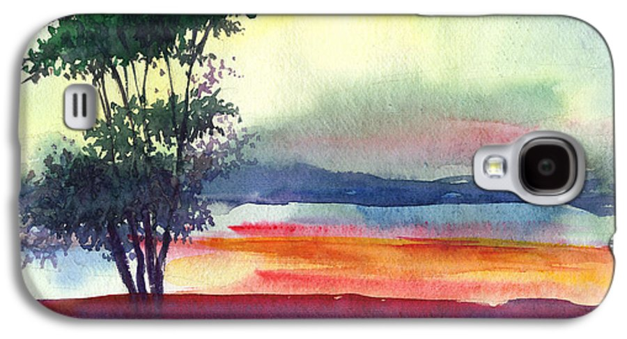 Water Color Galaxy S4 Case featuring the painting Evening Lights by Anil Nene