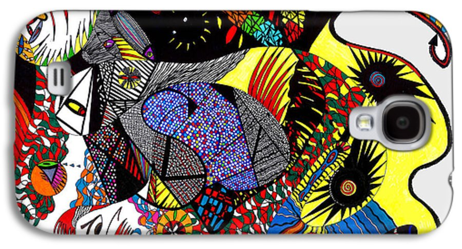 Psychedelic Galaxy S4 Case featuring the painting Evil Born by Safak Tulga
