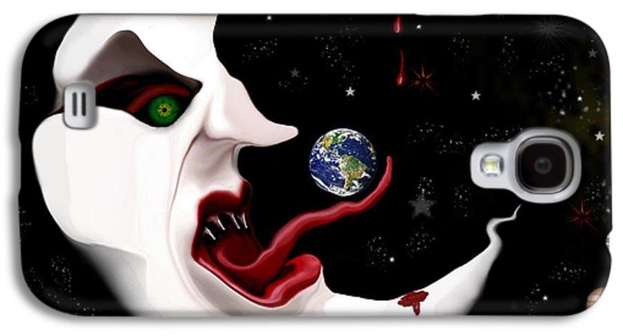 Moon Galaxy S4 Case featuring the digital art Evil Moon by Ruben Flanagan
