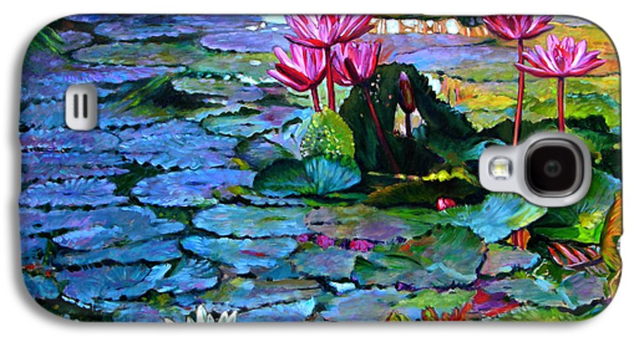 Landscape Galaxy S4 Case featuring the painting Expressions From The Garden by John Lautermilch
