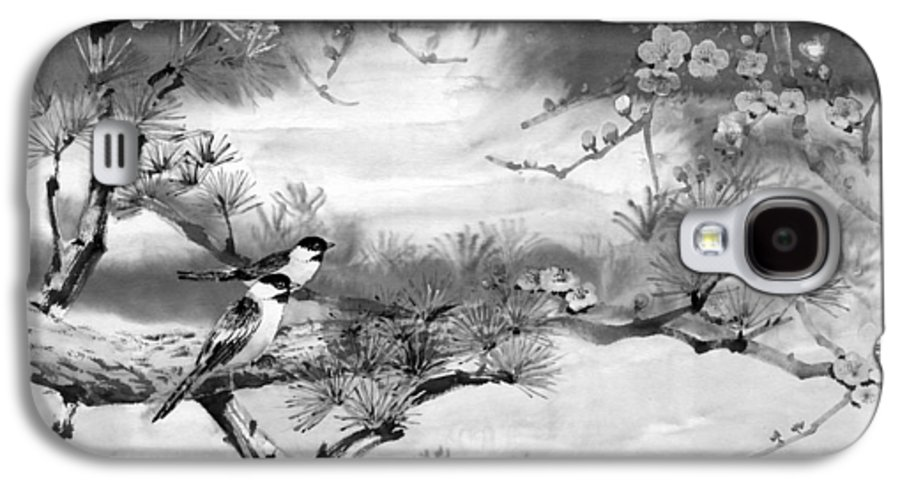 Chinese Painting Galaxy S4 Case featuring the painting Expressions Of Spring by Eileen Fong