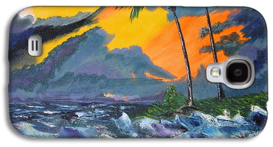 Knifework Galaxy S4 Case featuring the painting Eye Of The Storm by Susan Kubes