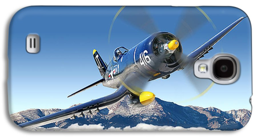F4-u Corsair Galaxy S4 Case featuring the photograph F4-u Corsair by Larry McManus