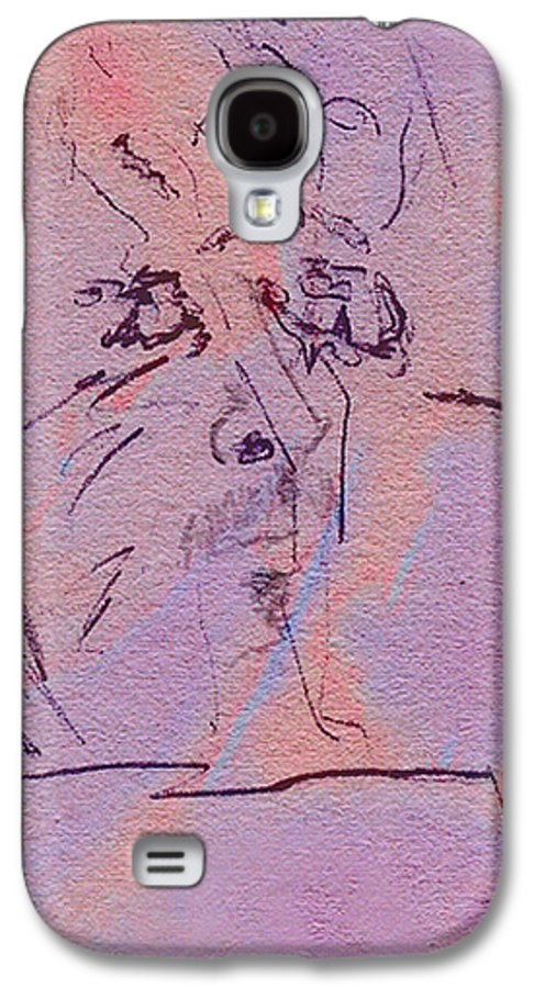 Abstract Galaxy S4 Case featuring the mixed media Faces Of Trivia by Steve Karol