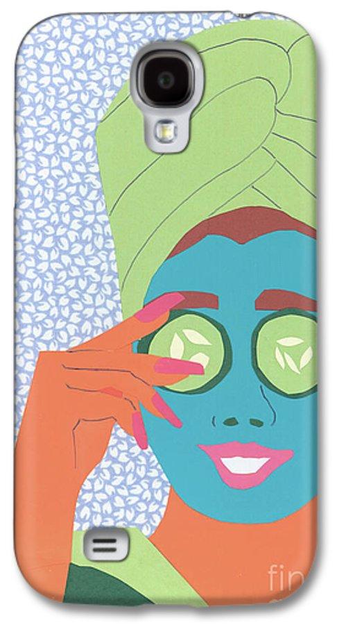 Face Galaxy S4 Case featuring the mixed media Facial Masque by Debra Bretton Robinson