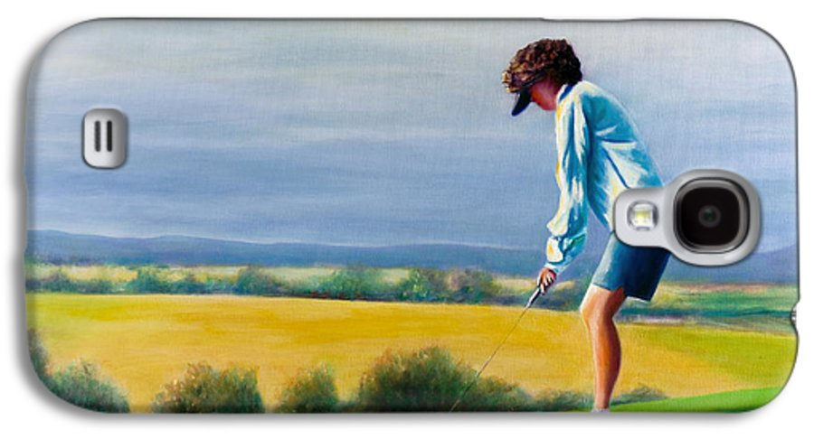 Golfer Galaxy S4 Case featuring the painting Fairy Golf Mother by Shannon Grissom