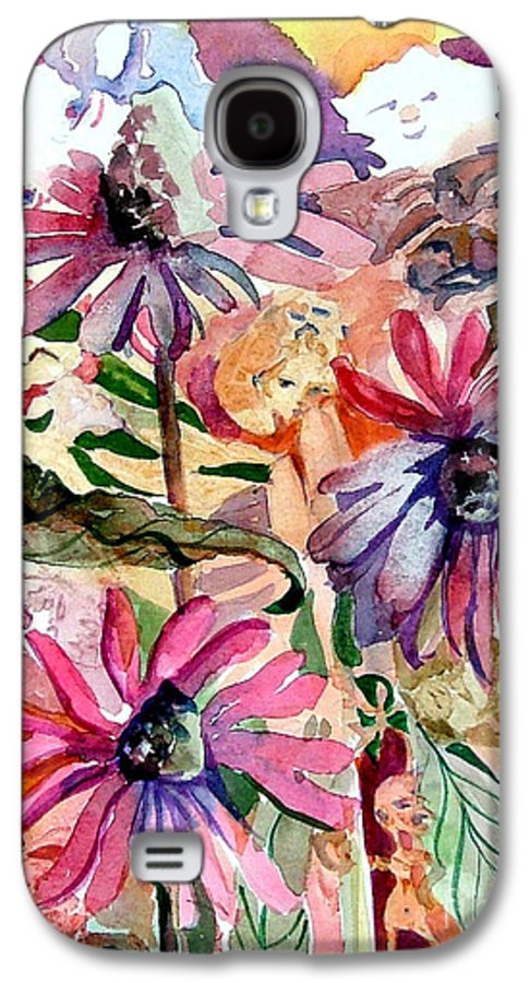 Daisy Galaxy S4 Case featuring the painting Fairy Land by Mindy Newman