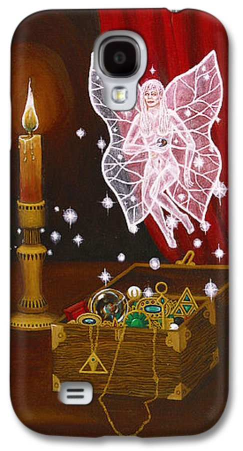 Fairy Galaxy S4 Case featuring the painting Fairy Treasure by Roz Eve