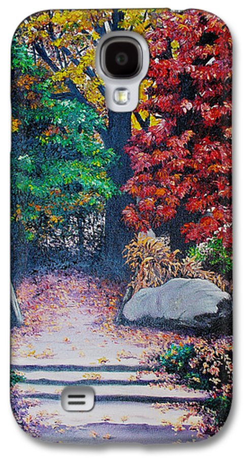 A N Original Painting Of An Autumn Scene In The Gateneau In Quebec Galaxy S4 Case featuring the painting Fall In Quebec Canada by Karin Dawn Kelshall- Best