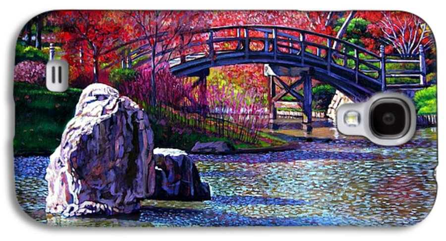Garden Galaxy S4 Case featuring the painting Fall In The Garden by John Lautermilch
