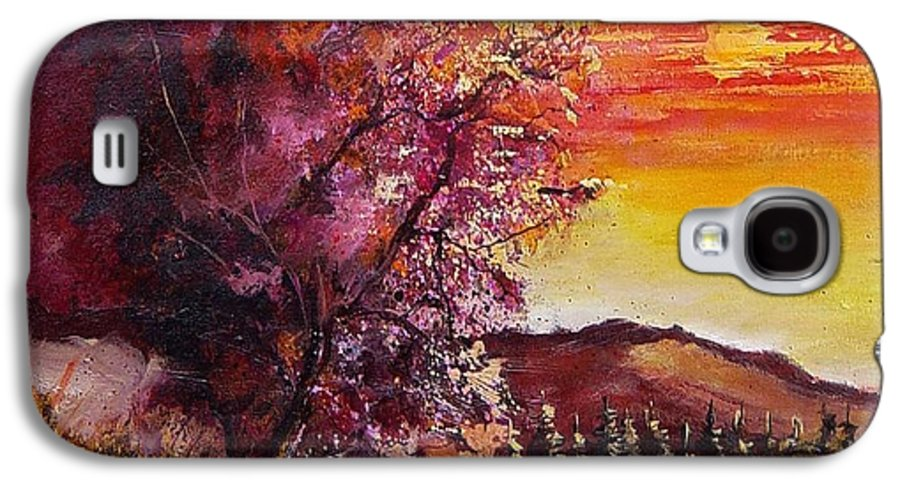 Autumn Galaxy S4 Case featuring the painting Fall In Villers by Pol Ledent