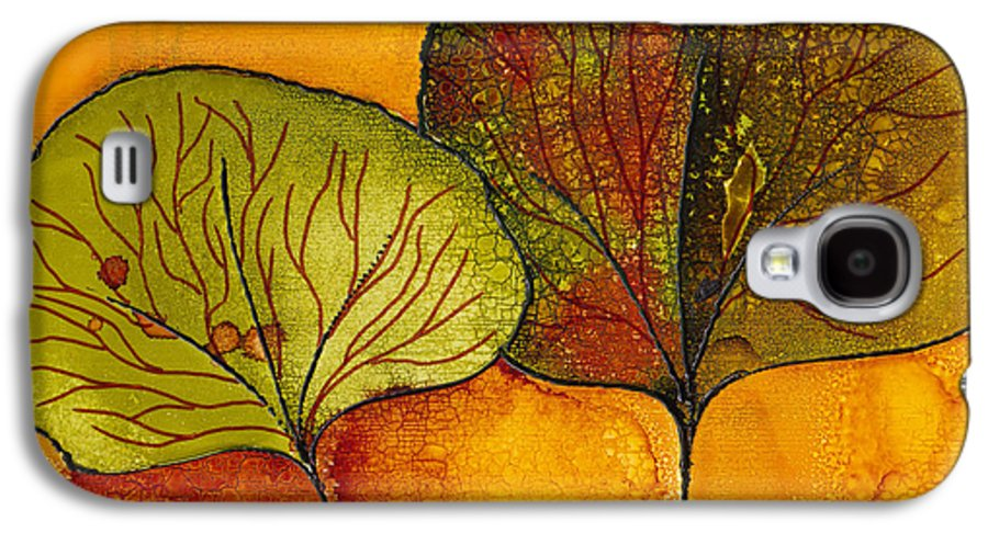 Leaf Galaxy S4 Case featuring the painting Fall Leaves by Susan Kubes