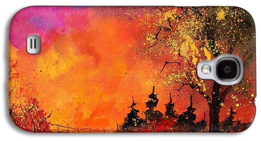 River Galaxy S4 Case featuring the painting Fall by Pol Ledent