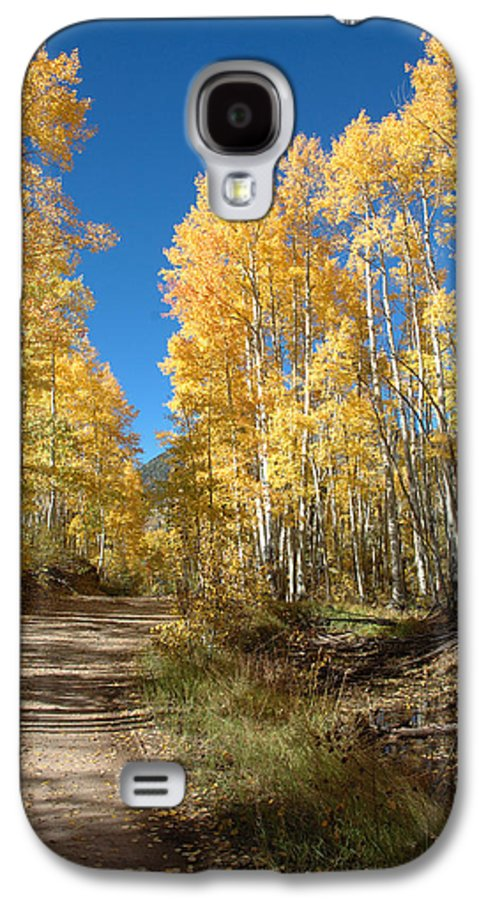 Landscape Galaxy S4 Case featuring the photograph Fall Road by Jerry McElroy