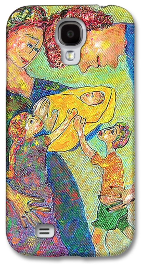Family Enjoying Each Other Galaxy S4 Case featuring the painting Family Matters by Naomi Gerrard