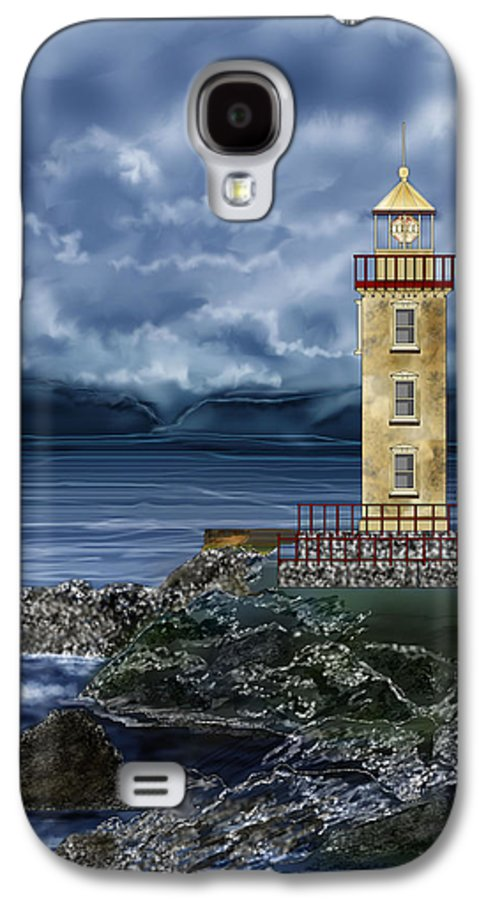 Lighthouse Galaxy S4 Case featuring the painting Fanad Head Lighthouse Ireland by Anne Norskog