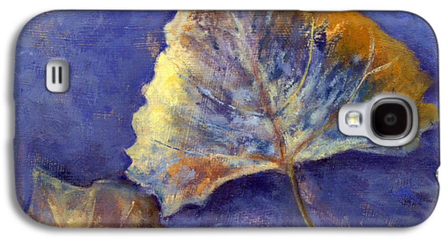 Leaves Galaxy S4 Case featuring the painting Fanciful Leaves by Chris Neil Smith