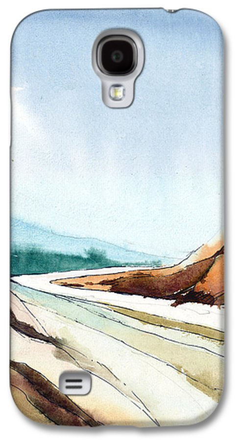 Landscape Galaxy S4 Case featuring the painting Far Away by Anil Nene