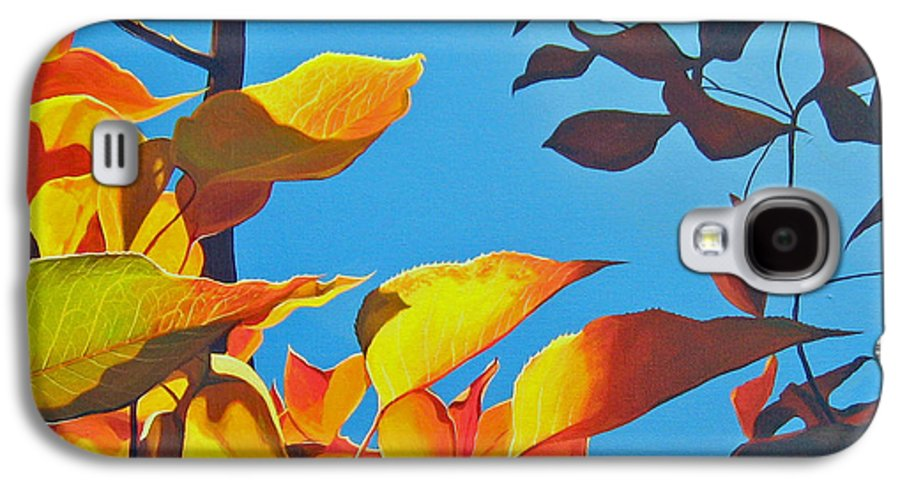 Fall Galaxy S4 Case featuring the painting Farewell To Summer by Hunter Jay