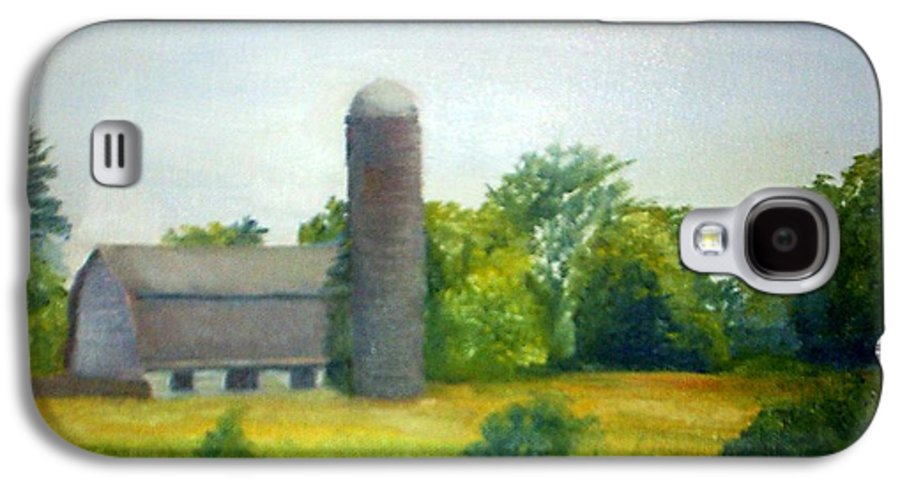 Farm Galaxy S4 Case featuring the painting Farm In The Pine Barrens by Sheila Mashaw