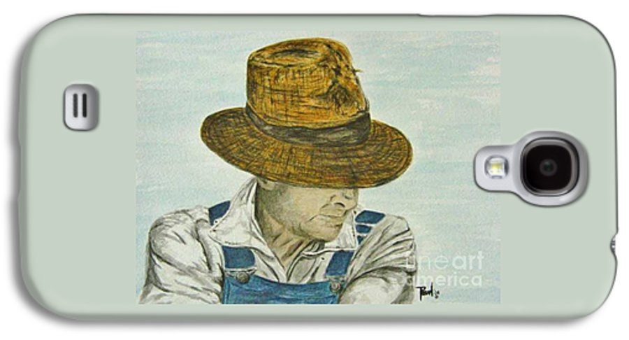 Portrait Galaxy S4 Case featuring the painting Farmer Ted by Regan J Smith