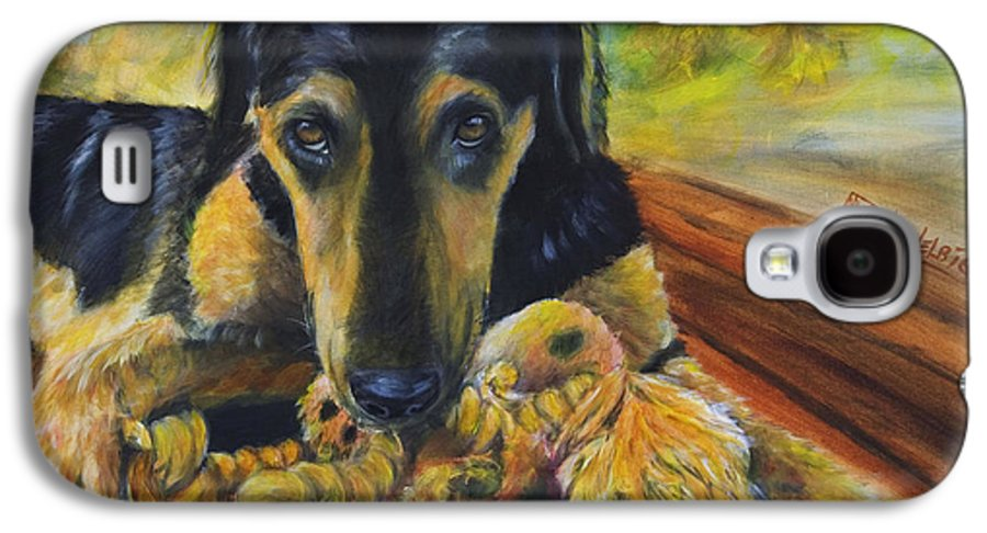 Dog Galaxy S4 Case featuring the painting Favorite Things by Nik Helbig