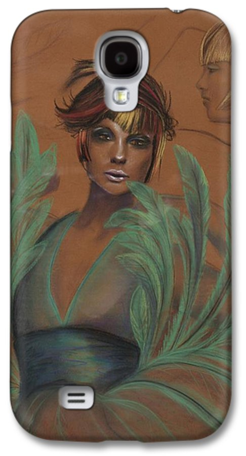 Feather Galaxy S4 Case featuring the drawing Feathers by Maryn Crawford