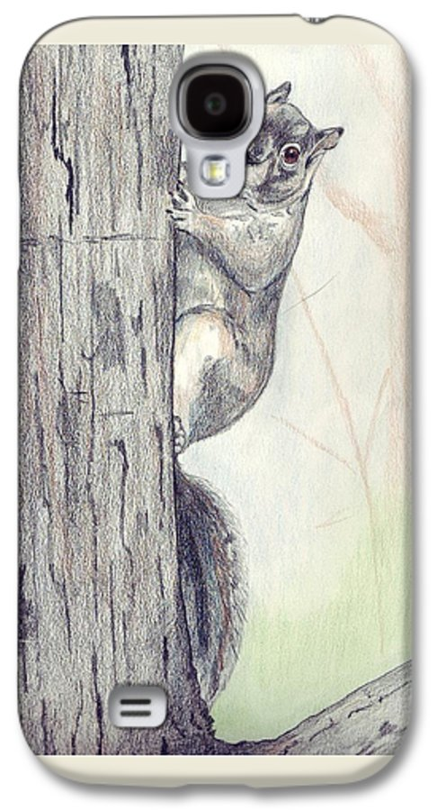 Color Pencil Galaxy S4 Case featuring the drawing Feeder Raider by Debra Sandstrom
