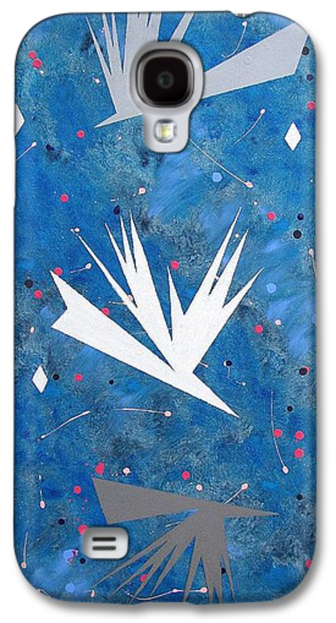 Birds And Diamond Stars Galaxy S4 Case featuring the painting Feeding Frenzy by J R Seymour