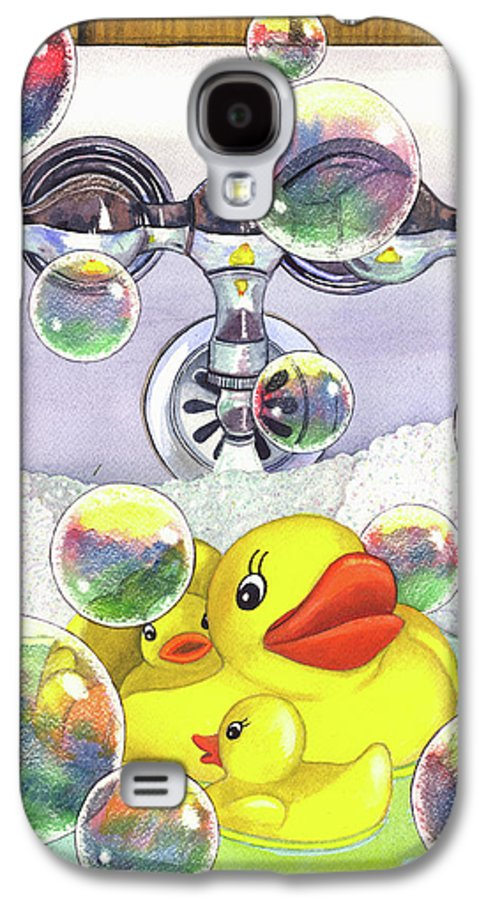 Bubbles Galaxy S4 Case featuring the painting Feelin Ducky by Catherine G McElroy
