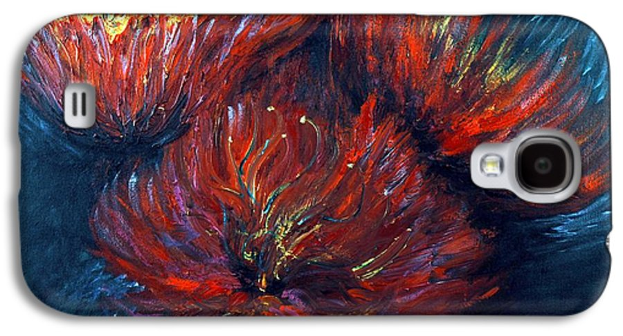 Abstract Galaxy S4 Case featuring the painting Fellowship by Nadine Rippelmeyer