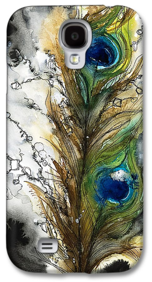 Abstract Galaxy S4 Case featuring the painting Female by Tara Thelen - Printscapes