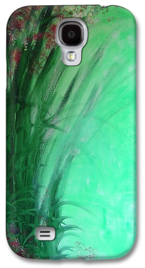 Green Ferns Galaxy S4 Case featuring the painting Ferns by Lizzy Forrester