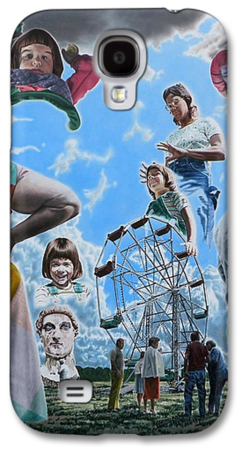 Woman Galaxy S4 Case featuring the painting Ferris Wheel by Dave Martsolf