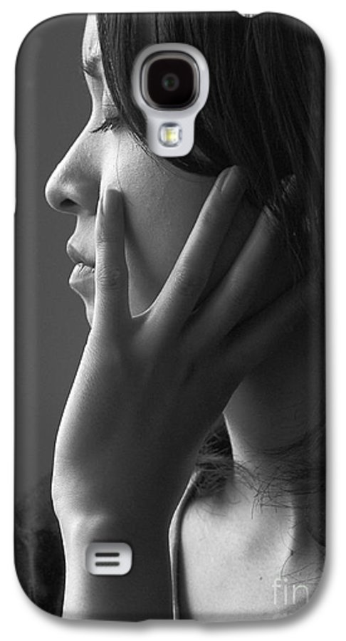 Woman Girl Candid Monochrome Hand Galaxy S4 Case featuring the photograph Ferry Girl by Avalon Fine Art Photography