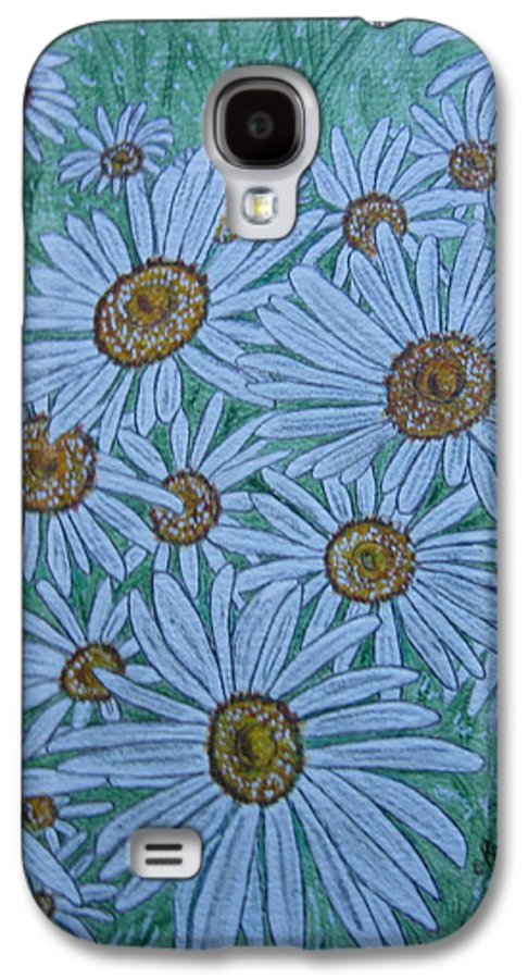 Field Galaxy S4 Case featuring the painting Field Of Wild Daisies by Kathy Marrs Chandler