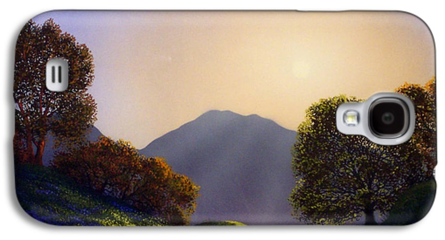 Landscape Galaxy S4 Case featuring the painting Field Of Wildflowers by Frank Wilson