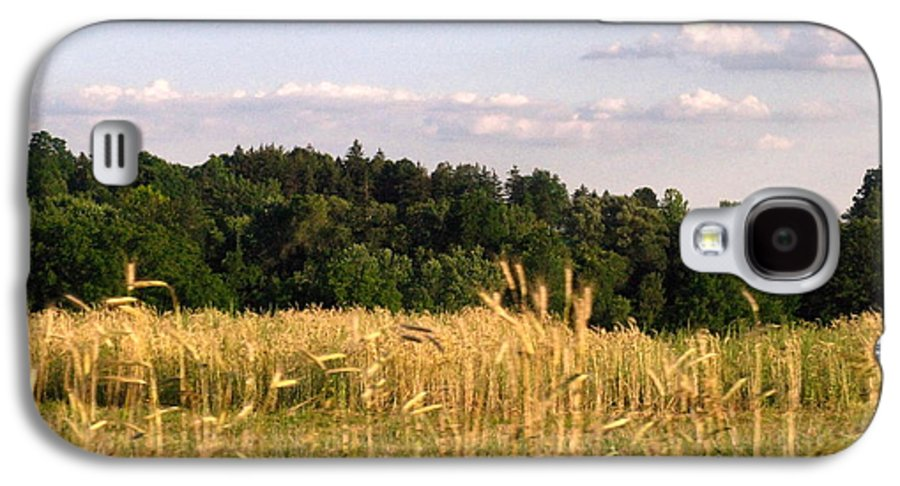 Field Galaxy S4 Case featuring the photograph Fields Of Grain by Rhonda Barrett