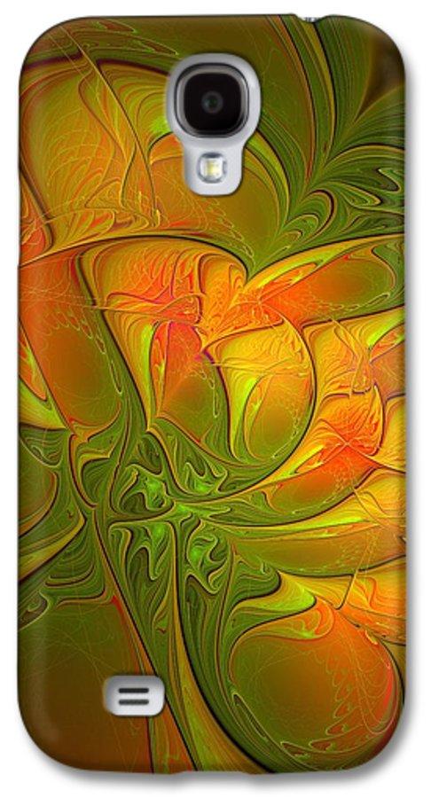 Digital Art Galaxy S4 Case featuring the digital art Fiery Glow by Amanda Moore