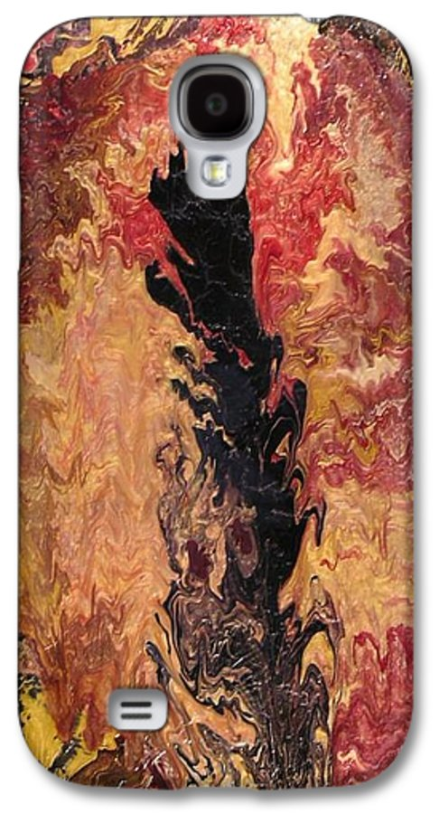 Abstract Galaxy S4 Case featuring the painting Fire - Elemental Spirit by Patrick Mock