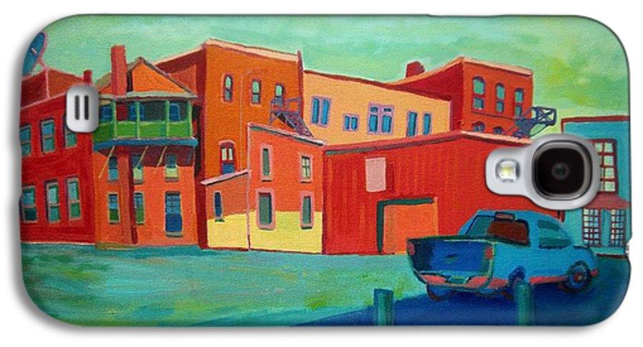 Cityscape Galaxy S4 Case featuring the painting Fire Escapes In Burlington by Debra Bretton Robinson