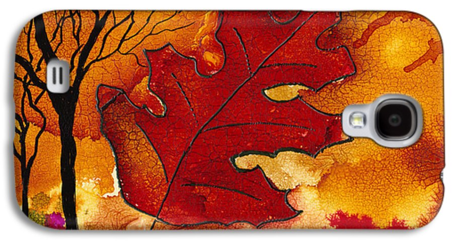 Fire Galaxy S4 Case featuring the painting Firestorm by Susan Kubes