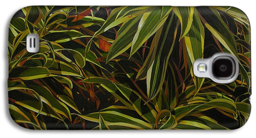 Leaves Galaxy S4 Case featuring the painting First In Cabot by Thu Nguyen