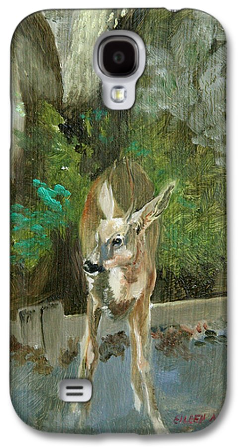 Deer Galaxy S4 Case featuring the painting First Young Buck Pad by Eileen Hale