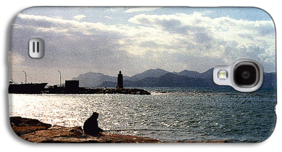 Fisherman Galaxy S4 Case featuring the photograph Fisherman In Nice France by Nancy Mueller