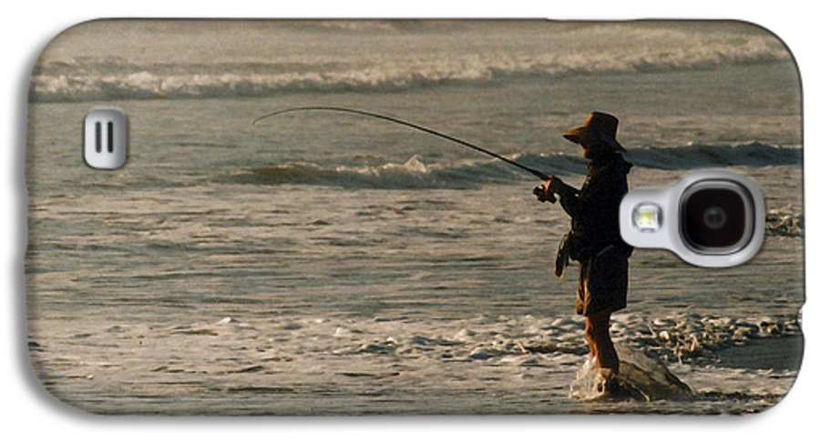 Fisherman Galaxy S4 Case featuring the photograph Fisherman by Steve Karol