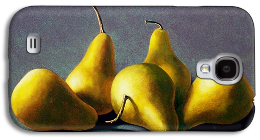 Still Life Galaxy S4 Case featuring the painting Five Golden Pears by Frank Wilson